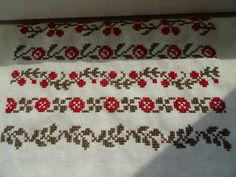 This Pin was discovered by ayş Cross Stitch Borders, Cross Stitching, Needlework, Embroidery, Crochet, Pattern, Handmade, Crafts, Floral