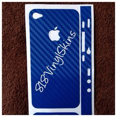 Blue Carbon Fiber Vinyl iPhone 4-4s Skin · 818 Vinyl Skins · Online Store Powered by Storenvy