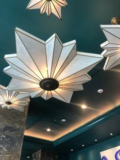 #tbt to the beautiful Tiffany glass stars at The Jung Hotel in New Orleans 🌟 New Orleans Hotels, Tiffany Glass, Light Project, Custom Lighting, Light Decorations, Ceiling Fan, Stars, Projects, Beautiful