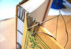 How to make Coptic Headband (Endband) - Tutorial Bookbinding Tools, Bookbinding Tutorial, Headband Tutorial, Bow Tutorial, Flower Tutorial, Homemade Journal, Book Journal, Journals, Notebooks
