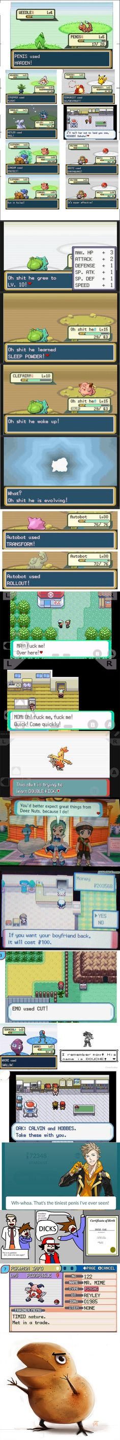 When you f**k with names in pokemon (part 2) - 9GAG