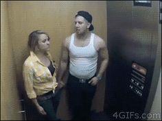 Elevator prank gone slightly wrong