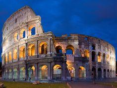 O Coliseu é o maior símbolo do Império Romano, e hoje é uma das Sete Maravilhas do Mundo Moderno.