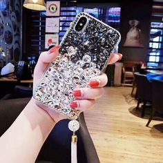 luxury DIY diamond gem case for iphone XS MAX XR X 7 8 6 cover Plus edge plus Outfit Accessories From Touchy Style. Iphone 7 Plus, Iphone 7 Phone Cases, Glitter Phone Cases, Cute Phone Cases, Iphone 8, Cheap Iphones, Iphone Models, Cover, Diy