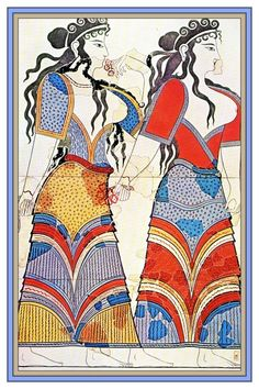Fresco, Pylos, Procession of Women