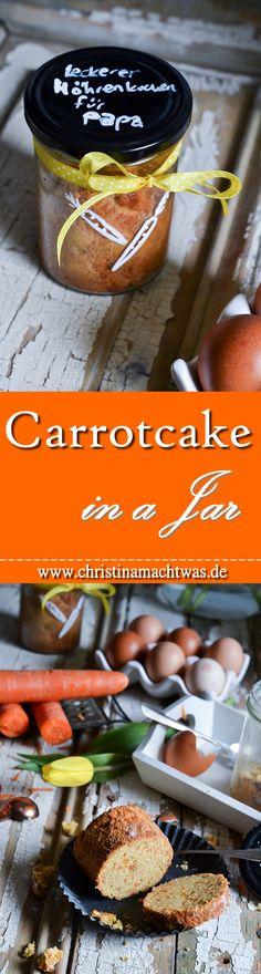 Last Minute Ostergeschenk gesucht? Wie wäre es mit einem Kuchen im Glas - genauer gesagt einen herrlichen Karottenkuchen! --- Trouble finding a gift for your loved one? I think a carrot cake in a jar is the solution!