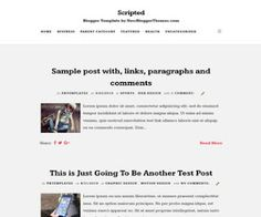 Scripted Blogger Template