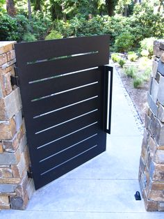 "This gate was laser cut from 1/2"" thick steel.  It has a press broke handle."
