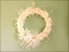 floral wreath made out of plastic bottles! so clever so good for the earth....reuse!