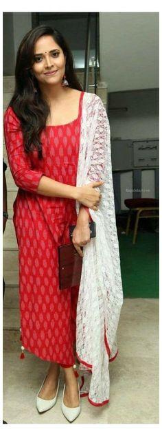Salwar Designs, Simple Kurti Designs, Kurta Designs Women, Kurti Designs Party Wear, Salwar Kameez Neck Designs, Kalamkari Dresses, Ikkat Dresses, Long Dress Design, Dress Neck Designs