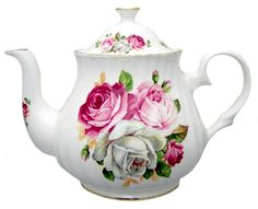 Summertime Blooms, 4 cup - The snow is falling down outside and the wind is howling something fierce this very cold winter day. Yet I feel like it is a warm summer day inside my home because I am enjoying teatime with my favorite teapot. No matter what the weather outside, drinking tea from my Summertime Blooms tea pot always …