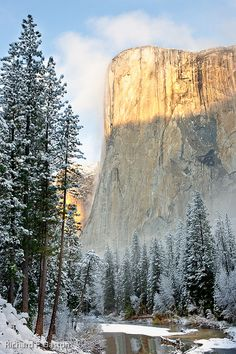 Been there in the summer and didn't see even, visiting in the winter looks so pretty too! better go back...Yosemite National Park, California, USA