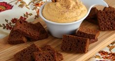 Pumpkin Cheesecake Dip with Gingerbread Toasts