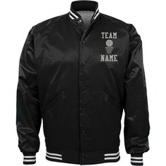Personalized Basketball Coach Team Jacket | Available in other styles & colors.