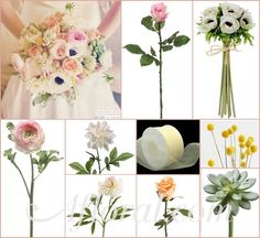 Kelly's Vintage Peony Ranunculus & Anemone Inspiration Board