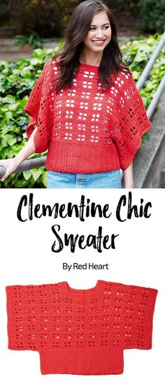Clementine Chic Sweater free crochet pattern in Chic Sheep by Marly Bird yarn. Whether you choose to crochet our sweater in a bright or neutral shade, you'll love having this unique layering piece in your wardrobe. Since it looks great on a wide range of sizes, the pattern is written for x-small through 5x-large.