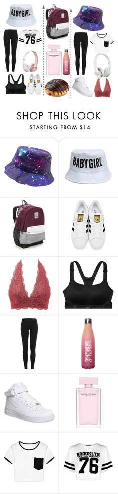 """Follow me on Instagram rtd for my username!"" by haileywilkins1 ❤ liked on Polyvore featuring Victoria's Secret, adidas Originals, Charlotte Russe, Polo Ralph Lauren, NIKE, WithChic, Beats by Dr. Dre and Boohoo"