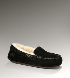 UGG Black House Slippers (Ansley)