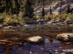 """Shadow Creek Pool II"" (SOLD) by Matt Smith Oil ~ 12 x 16"
