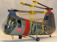 Piasecki HUP-3 1/72 scale. Kit bash by Phillip Steele. Royal Canadian Navy. #helicopter #chopper #scale_model