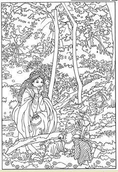 Color Your Own Victorian Fairy Painting, Dover Publications