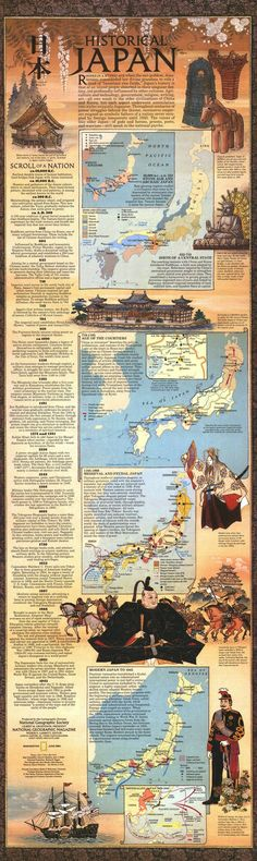 History of Japan Infographic. This would be a cool way to present the history of a world and or empire. Japanese History, Asian History, Japanese Culture, Japanese Art, History Of Japan, British History, Culture Art, Historical Maps, Japanese Language