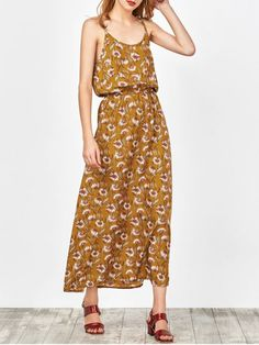 Beach Floral Maxi Dress - GINGER S