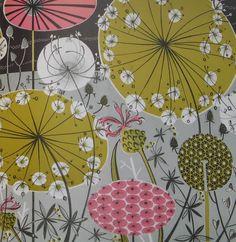 Angie Lewin, amazing printmaker Natural Form Artists, Natural Forms, Angie Lewin, A Level Art Sketchbook, Flower Mural, Teen Art, Atelier D Art, Abstract Flowers, Textile Artists