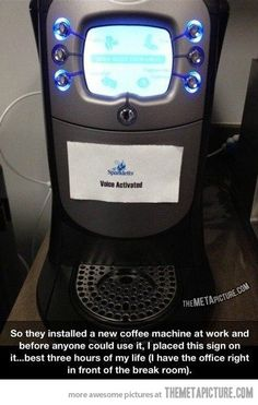 New coffee machine...