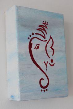 Ganesha , a serene acrylic painting on canvas