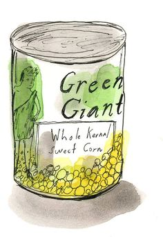 Can of green beans by ElizabethGraeber on Etsy, $22.00