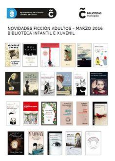 Novidades das lecturas de ficción para adultos na Biblioteca Infantil e Xuvenil (Durán Loriga) para o 1º trimestre do ano