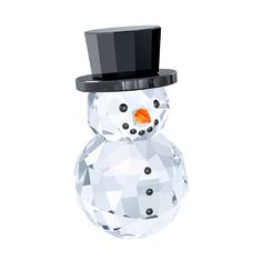 Swarovski Snowman with Hat (€105) ❤ liked on Polyvore featuring home, home decor, holiday decorations, black home decor, snowman home decor, orange home decor and crystal home decor
