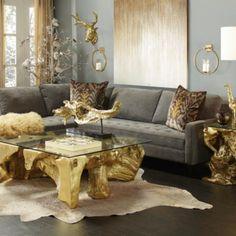 Z Gallerie Bathing Beauty Living Room Grey Living