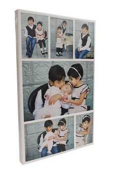 6-tile photo collage printed on canvas