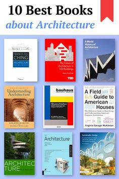 10 Best Books about Architecture Architecture Design, Architecture Background, Architecture Sketchbook, Industrial Architecture, Organic Architecture, Architecture Student, Concept Architecture, Amazing Architecture, Best Design Books