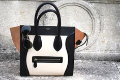 Celine Purse,  Black, White and Brown <3