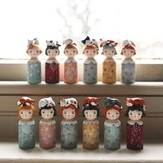 Your place to buy and sell all things handmade Fabric Dolls, Paper Dolls, Art Dolls, Wood Peg Dolls, Clothespin Dolls, Doll Crafts, Fun Crafts, Woodworking For Kids, Wooden Pegs