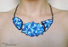 Polymer clay necklace made by Modeline Biju after Aniko Kolesnikova's tutorial.