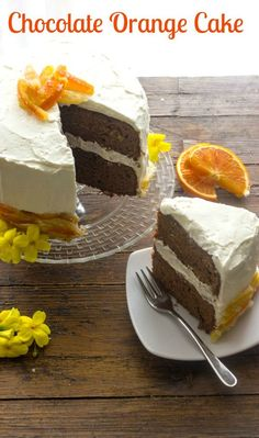 Soft Chocolate Cake With Orange Creme Anglaise Recipe — Dishmaps