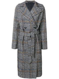 dogtooth double breasted coat