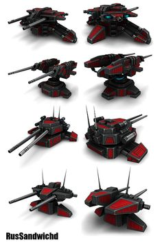 4 Sci-Fi Turrets by RusSandwichd on DeviantArt