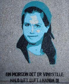 "Oslo Street Art: -- ""Hald litt luft i handa di"""