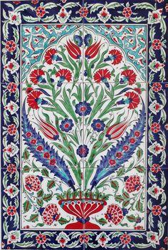 Turkish Design, Turkish Art, Turkish Tiles, Moroccan Tiles, Moroccan Decor, Tile Murals, Tile Art, Wall Tiles, Islamic Tiles