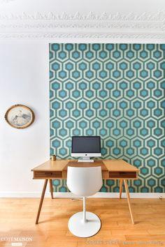un appartement, Claire Clerc Décoratrice Intérieur - Côté Maison - Papier peint Hick's Hexagon -