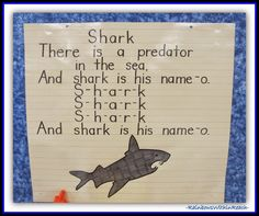 Ocean Anchor Chart: SHARK {Ocean RoundUP at RainbowsWithinReach, Ocean Bulletin Boards, Ocean Murals, Ocean Song, Ocean Poem, Ocean ART projects and more}
