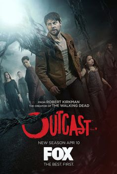 Rate each episode in the second season of the Outcast TV show on Cinemax. Vote now to support your favorite TV series. The Robert Kirkman horror drama stars Hd Movies, Movie Tv, Patrick Fugit, Tv Series 2016, Season 2 Episode 1, Gone Girl, Episode Online, Event Posters