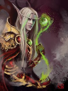 Kael's magic_sketch by RinaCane.deviantart.com on @deviantART