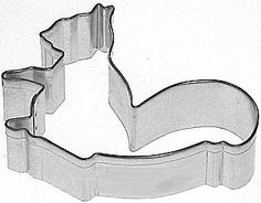 "3"" SQUIRREL  Cookie Cutter fall, autumn, dog bone on Etsy, $2.00"