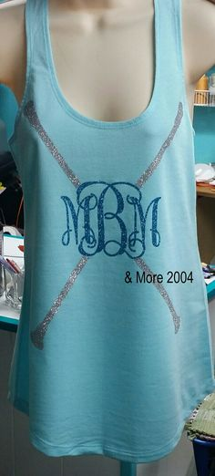 Twirlers Monogrammed Tank Top Shirt with Glittered by AndMore2004, $24.00